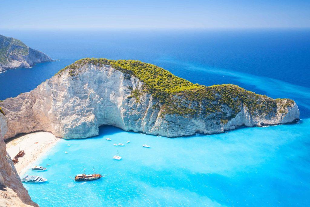 Զակինտոս. մեկ լողափի կղզի